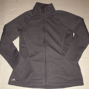Adidas Grey Quilted Golf Jacket Size Small